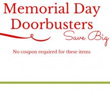 Memorial Day Doorbusters