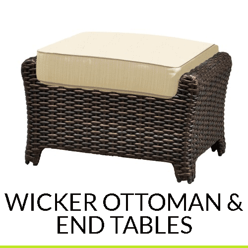 Outdoor Coffee/End Tables and Ottomans
