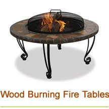 Wood Burning Fire Tables