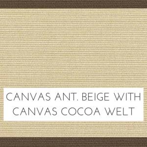 Canvas Antique Beige/ Cocoa Welt