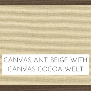 Canvas Antique Beige w/ Canvas Cocoa Welt