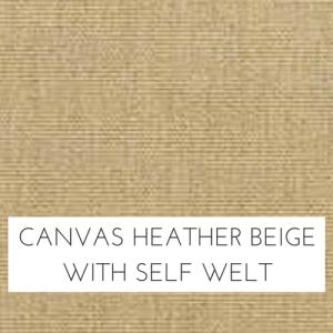 Canvas Heather Beige w/ Self Welt