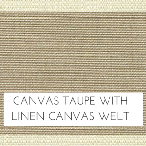Canvas Taupe w/ Linen Canvas Welt