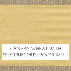 Canvas Wheat/ Spectrum Mushroom Welt
