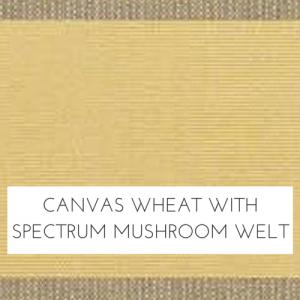 Canvas Wheat/ Spectrum Mushroom Welt