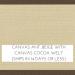 Canvas Antique Beige / Canvas Cocoa Welt