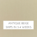 Antique Beige (CAN SHIP IN 3 BUSINESS DAYS)