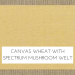 Canvas Wheat with Spectrum Mushroom Welt