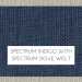 Spectrum Indigo with Spectrum Dove Welt +$199.00