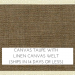 Canvas Taupe with Linen Welt