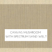 Canvas Mushroom with Spectrum Sand Welt