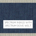 Spectrum Indigo with Spectrum Dove Welt +$48.00