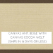 Canvas Antique Beige with Cocoa Welt