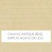 Canvas Antique Beige w/ Self Welt