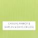 Canvas Parrot +$13.00