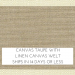 Canvas Taupe w/ Linen Canvas Welt