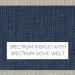 Spectrum Indigo with Spectrum Dove Self Welt