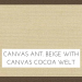 Canvas Antique Beige w/ Canvas Cocoa Welt +$199.00