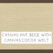 Canvas Antique Beige w/ Canvas Cocoa Welt +$199.00