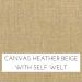 Canvas Heather Beige with Self Welt