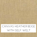 Canvas Heather Beige w/ Self Welt