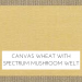 Canvas Wheat w/ Spectrum Mushroom Welt +$199.00