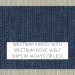 Spectrum Indigo w/ Spectrum Dove Welt +$66.00