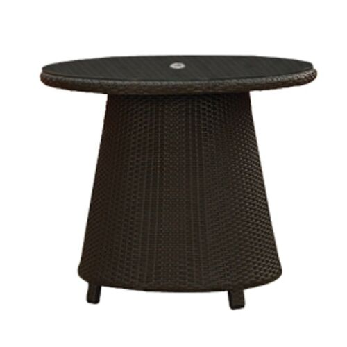 Cabo Wicker Round High Coffee Table
