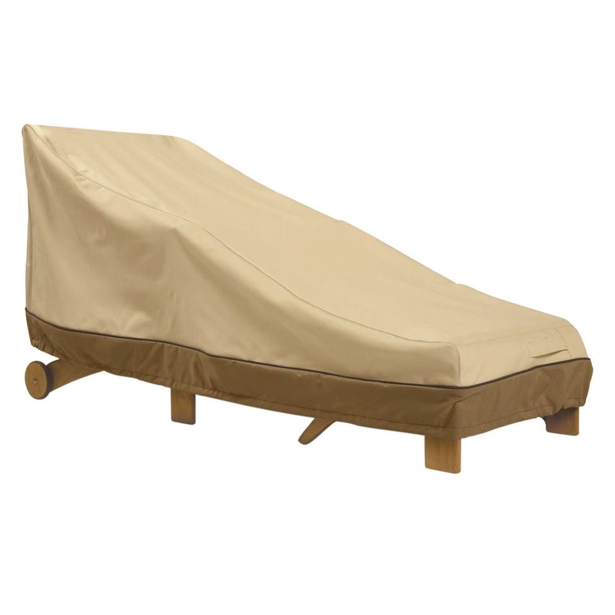 Single Adjustable Chaise Lounge with Arms Outdoor Cover