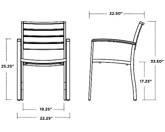Polywood Euro™ Dining Arm Chair