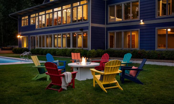 POLYWOOD® Nautical Adirondack Chair