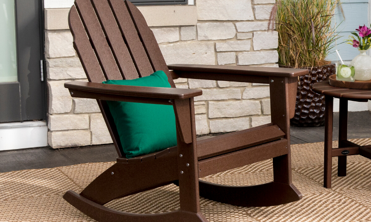 POLYWOOD® Vineyard Adirondack Rocking Chair