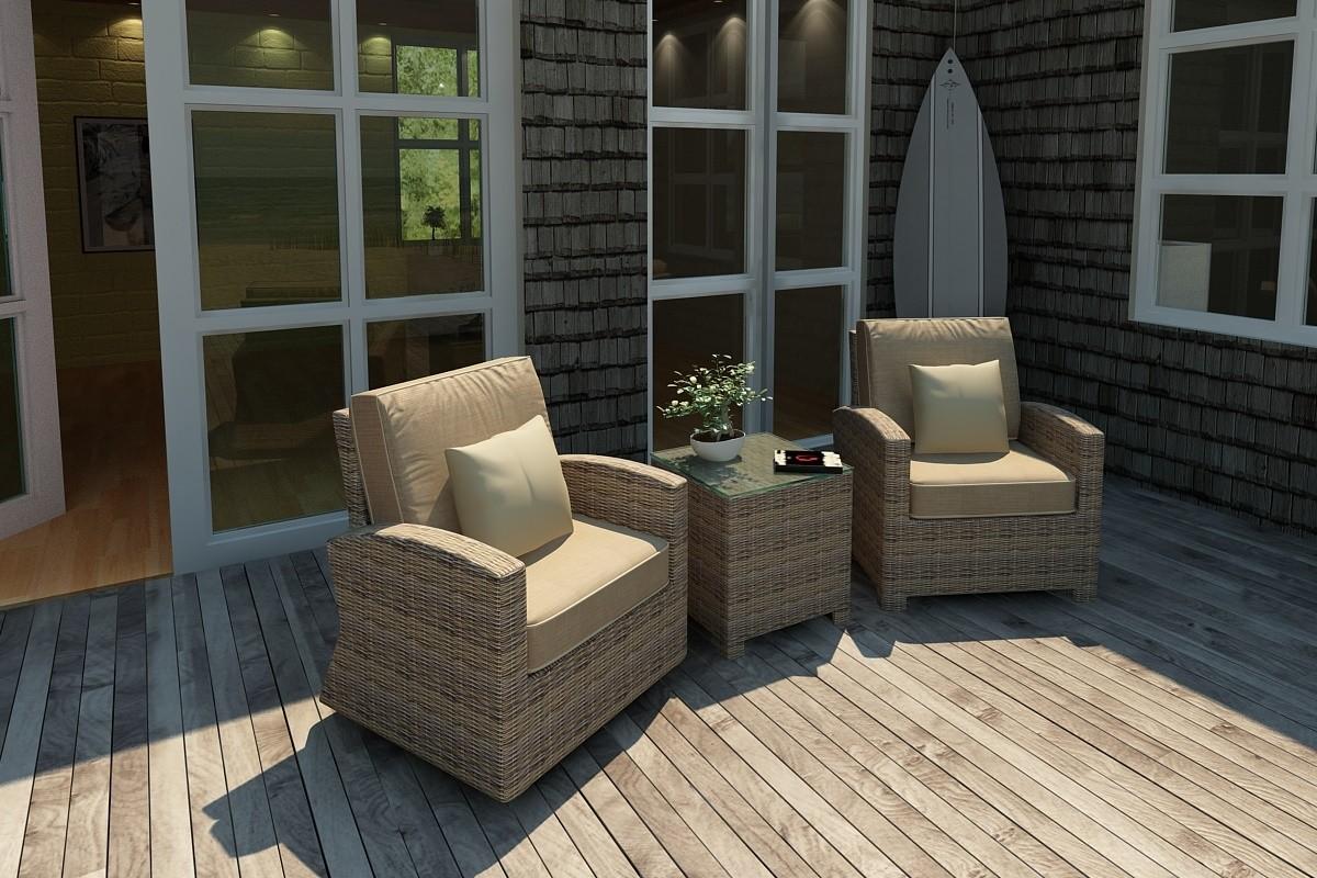 Bainbridge Swivel Glider Club Chair - on left