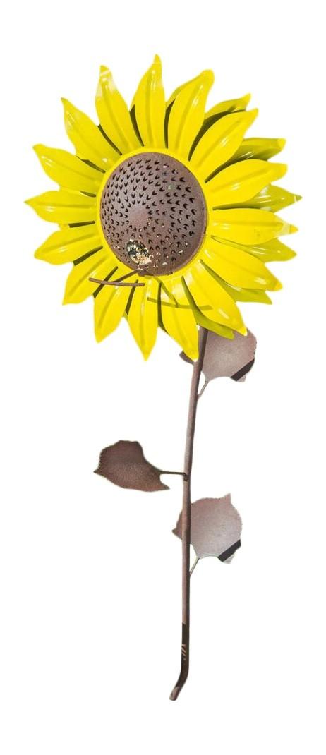 "Outdoor Metal Sunflower Bird Feeder 42"""