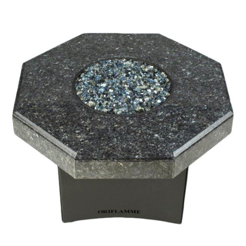 "Oriflamme Mini 32"" Octagon Fire Table - Blue Pearl"