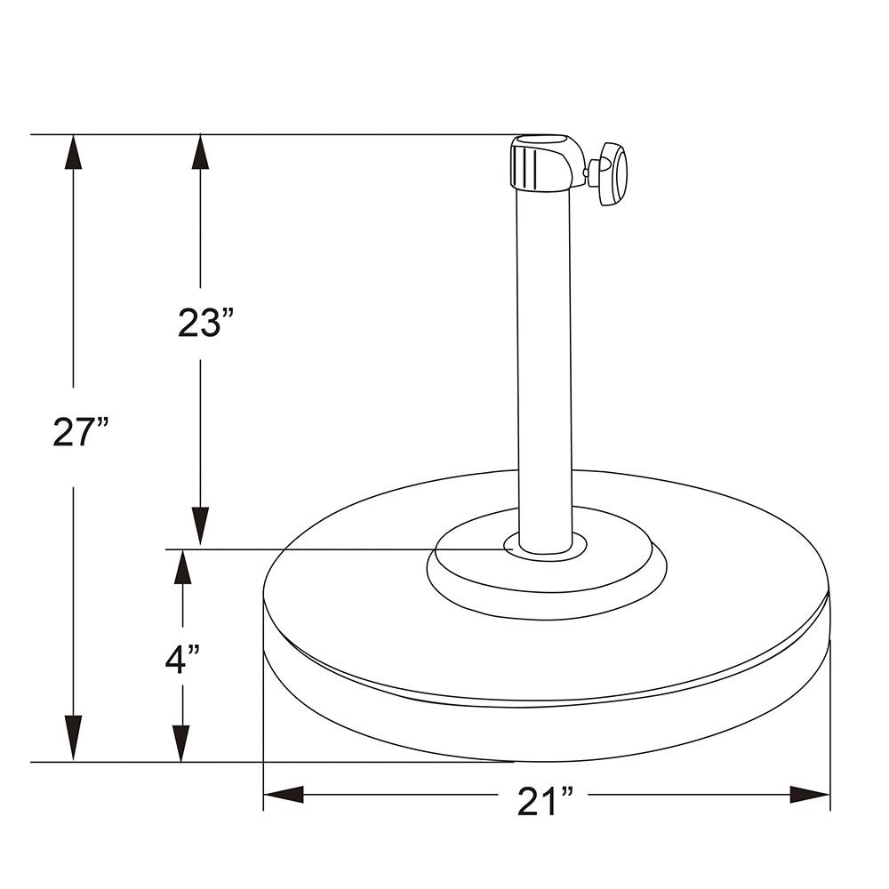 Optional Umbrella Base Dimensions