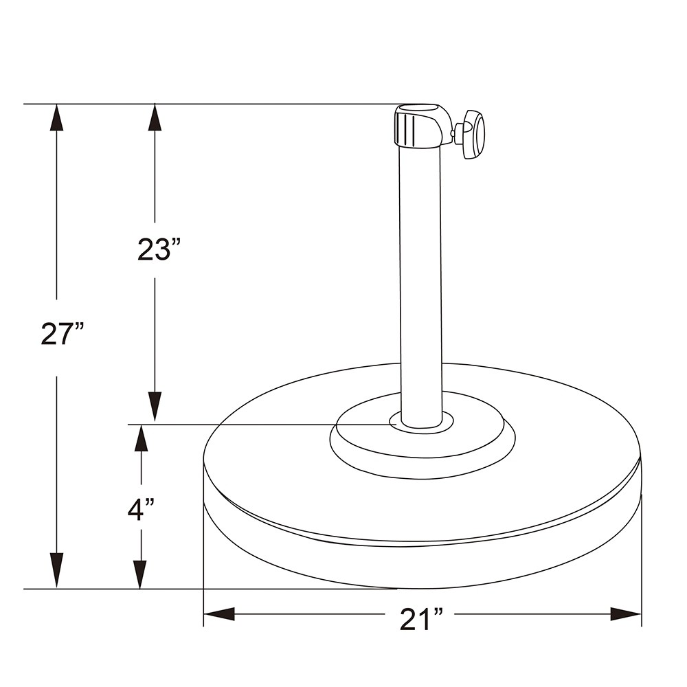 Optional Umbrella Base Dimensions
