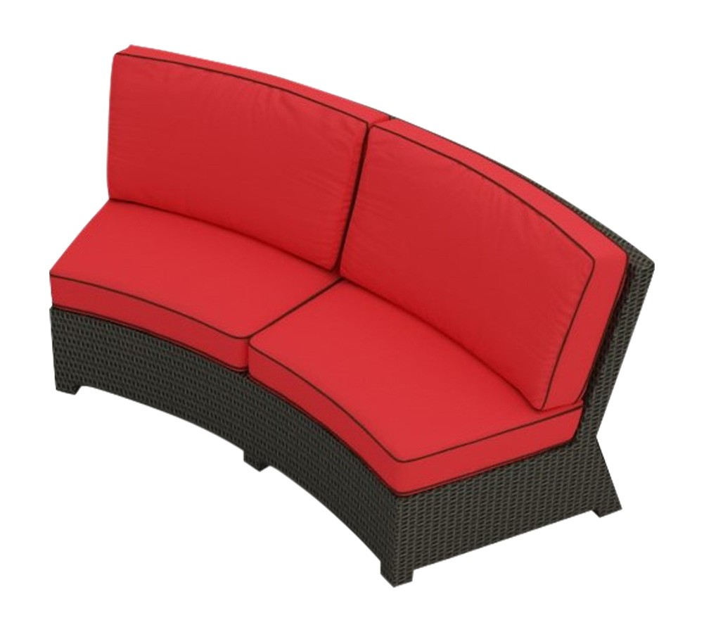 Cabo Curved Sofa Loveseat