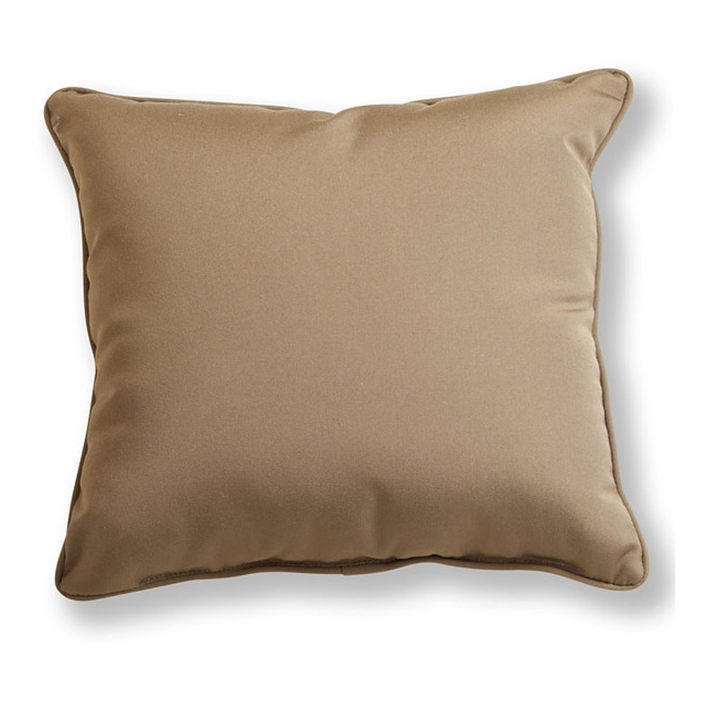 Canvas Cocoa Sunbrella Throw Pillow