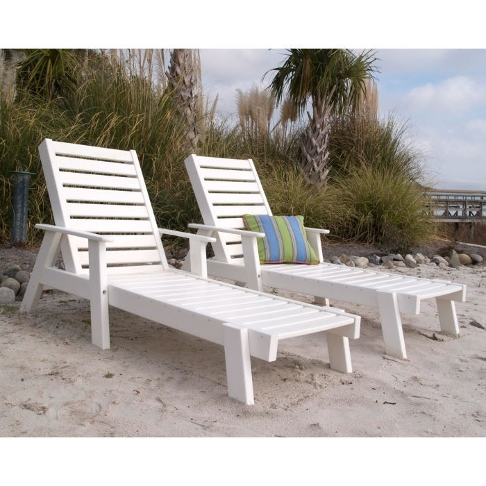Polywood Captain Chaise Lounge Chair with Arms