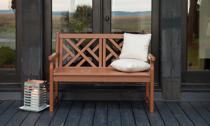 """POLYWOOD® Chippendale 48"""" Bench"""