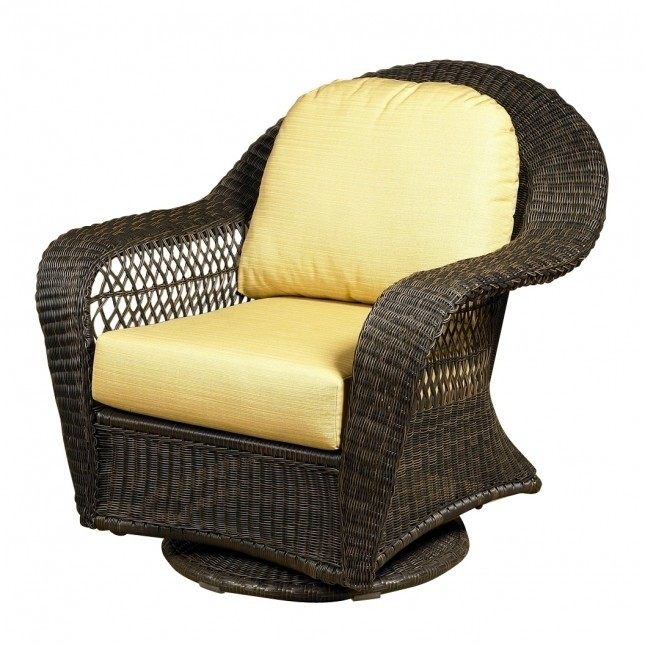Charleston High Back Swivel Glider Chair