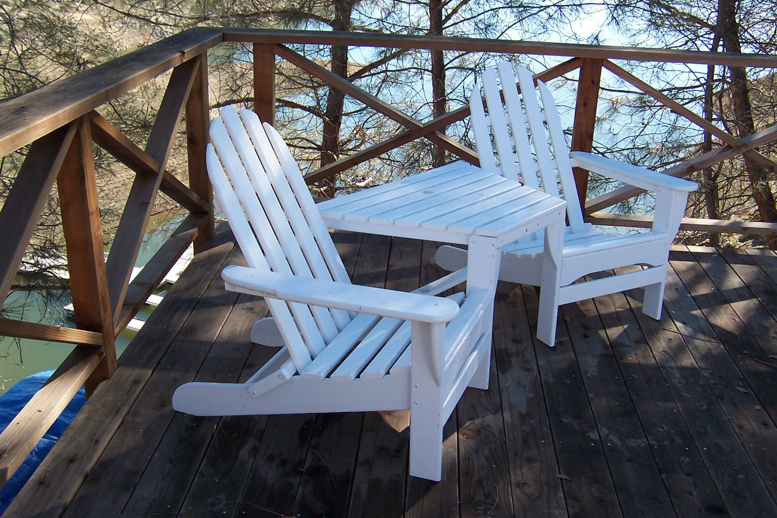 Adirondack Tête-À-Tête recycled plastic Polywood outdoor furniture live image