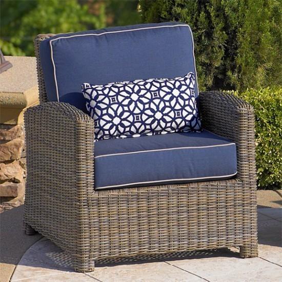 Bainbridge Club Chair with Spectrum Indigo