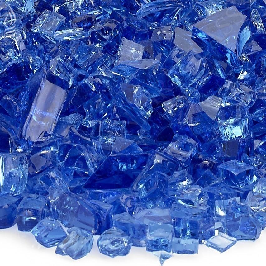 Fire Pit Fireplace Fire Glass Cobalt Blue