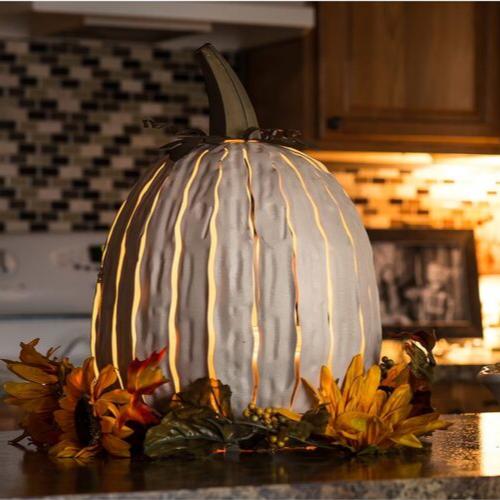 Tall White Pumpkin