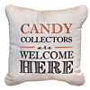 Halloween Candy Collectors Embroidered Outdoor Pillow