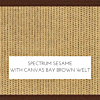 Spectrum Sesame with Canvas Bay Brown Welt