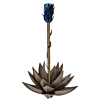Outdoor Steel Blue Agave Torch