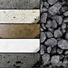 Concrete Stain Colors + Lava Rock
